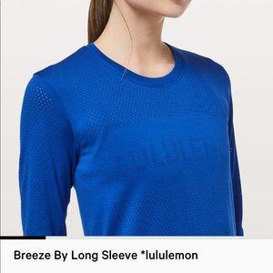 Breeze by long sleeve, lululemon top!